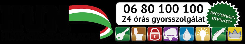 06 80 100 100 – HUN Gyorsszolgálat Logo